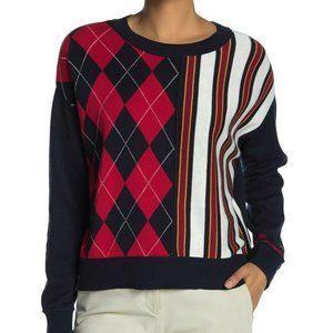 Tommy Hilfiger New Stripe argyle Sweater sz XL